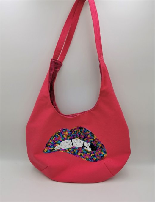Tote bag rose   réf : TB21-37